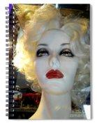 Smokey Eyed Blonde Spiral Notebook
