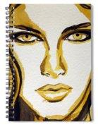 Smokey Eyes Woman Portrait Spiral Notebook