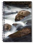 Smokey Mountain Stream In Autumn No.11 Spiral Notebook