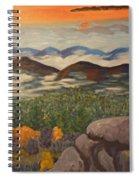 Smokey Mountain Sunset Spiral Notebook