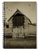 Smokey Prairie Barn  Spiral Notebook