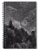 Smoky Mountain View Black And White Spiral Notebook