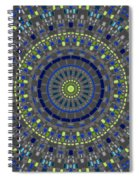 Smooth Squares Kaleidoscope Spiral Notebook