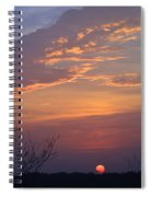 Smooth Sunset Spiral Notebook
