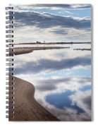 Smooth Water Reflections Spiral Notebook