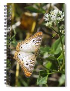 Snack For A White Peacock Butterfly Spiral Notebook