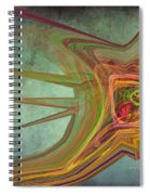 Snail In The 30th Century Spiral Notebook