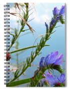 Snail On Flowers Spiral Notebook