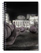 Snails Attack Milan Bw Spiral Notebook