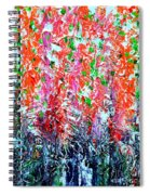 Snapdragons Poster Spiral Notebook