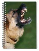 Snarling German Shepherd Dog Spiral Notebook