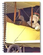 Snoopy In His Biplane Spiral Notebook