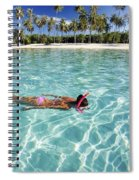 Snorkeling In Polynesia Spiral Notebook