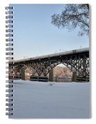 Snow Along Kelly Drive Spiral Notebook