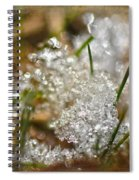 Snow And Ice Macro Spiral Notebook