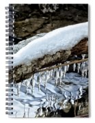 Snow And Icicles No. 1 Spiral Notebook