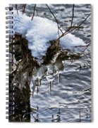 Snow And Icicles No. 2 Spiral Notebook