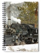 Snow And Steam Spiral Notebook