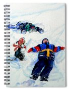 Snow Angels Spiral Notebook