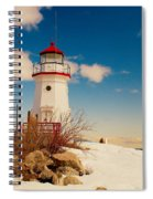 Snow At Cheboygan Crib Spiral Notebook
