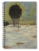 Snow At Christmas Spiral Notebook