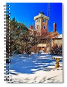 Snow At Hereford Inlet Spiral Notebook