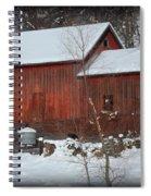 Snow Barn II Spiral Notebook