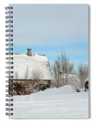 Snow Barns Spiral Notebook