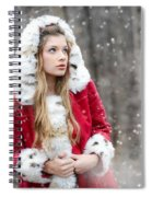 Snow Beauty In Red Spiral Notebook