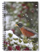 Snow Bird Spiral Notebook