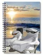 Snow Bird Vacation Spiral Notebook