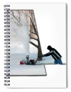Snow Blower Spiral Notebook