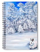 Snow Bunny Spiral Notebook