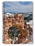 Snow Capped Arch At Bryce Spiral Notebook