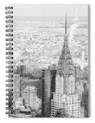 Snow - Chrysler Building And New York City Skyline Spiral Notebook