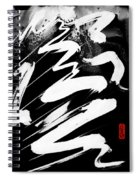 Snow-clad Mountain Inverted Spiral Notebook
