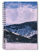 Snow Clouds - Winter - Ice Spiral Notebook