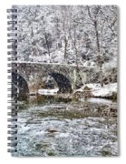 Snow Coming Down On The Wissahickon Creek Spiral Notebook