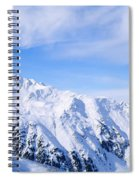Snow Covered Alps, Schonjoch, Tirol Spiral Notebook
