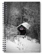 Snow Covered Covered Bridge  Spiral Notebook