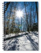 Snow Covered Forest Spiral Notebook