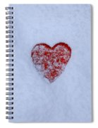 Snow-covered Heart Spiral Notebook