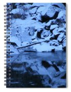 Snow Covered River Rocks Spiral Notebook