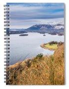 Snow Covered Skiddaw Above Derwent Water Spiral Notebook
