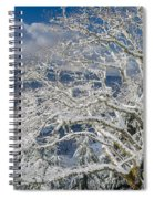 Snow Covered Tree And Winter Scene Spiral Notebook