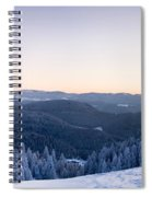 Snow Covered Trees On A Hill, Belchen Spiral Notebook