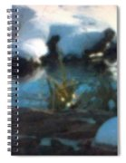 Snow Covered Waterscape Spiral Notebook