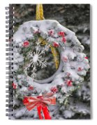 Snow Covered Wreath Spiral Notebook