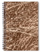 Snow Covers A Tree Branch In Winter Spiral Notebook