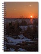 Snow Dune Sunset Seaside Park Nj Spiral Notebook